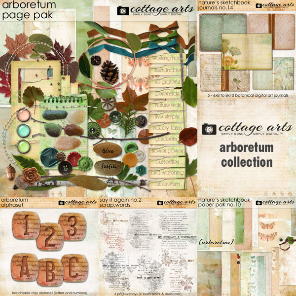 Arboretum Collection Digital Art - Digital Scrapbooking Kits