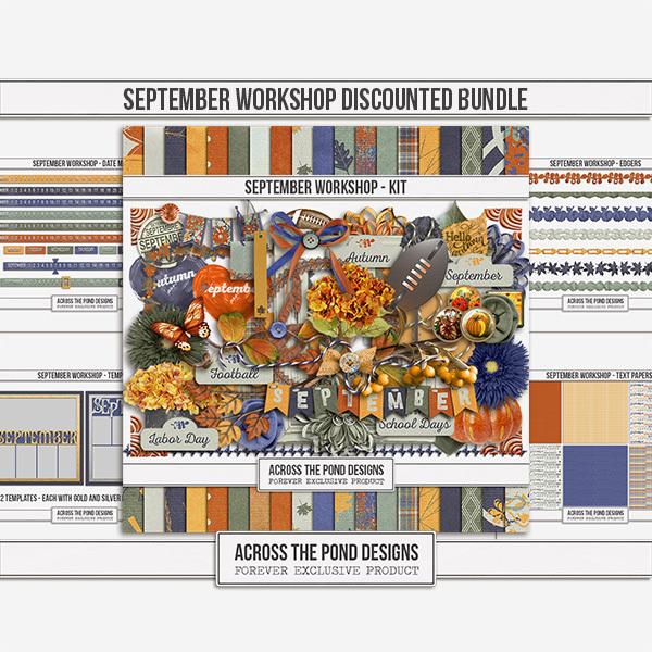 September Workshop - Discounted Bundle Digital Art - Digital Scrapbooking Kits