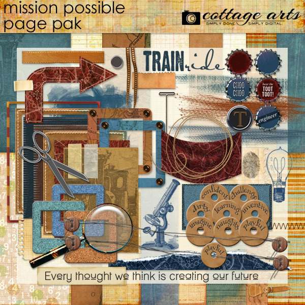 Mission Possible Page Pak Digital Art - Digital Scrapbooking Kits