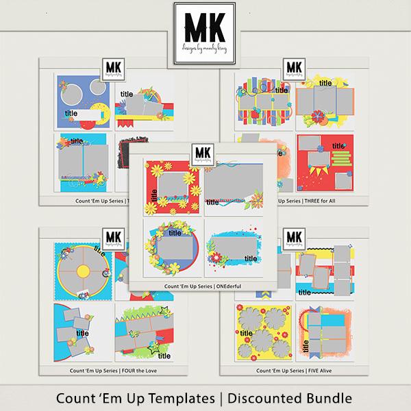 Count 'Em Up Templates - Bundle Digital Art - Digital Scrapbooking Kits