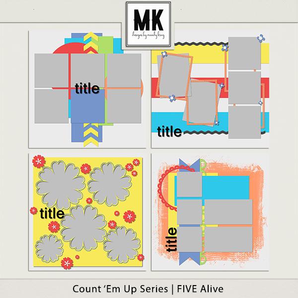 Count 'em Up Templates - Five Alive Digital Art - Digital Scrapbooking Kits