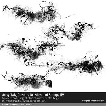 Artsy Twig Clusters Brushes And Stamps No. 01
