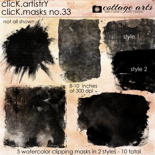 Click.artistry Click.masks 33 Digital Art - Digital Scrapbooking Kits