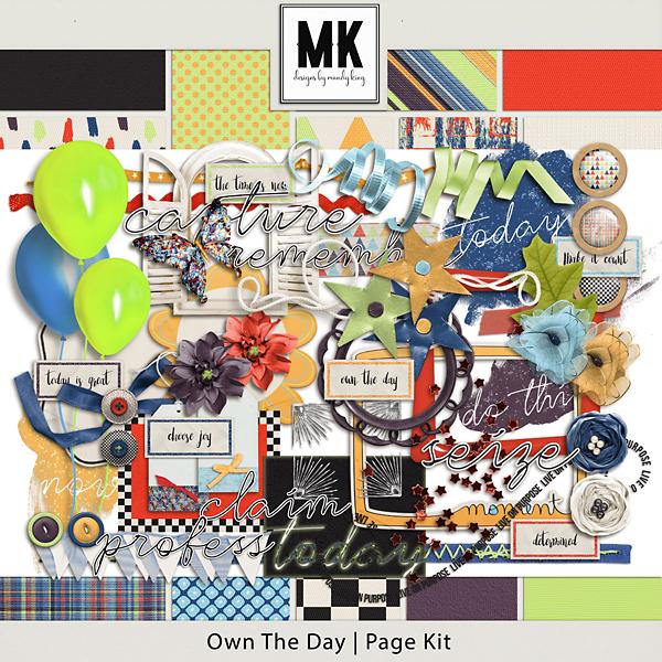 Own The Day - Page Kit Digital Art - Digital Scrapbooking Kits