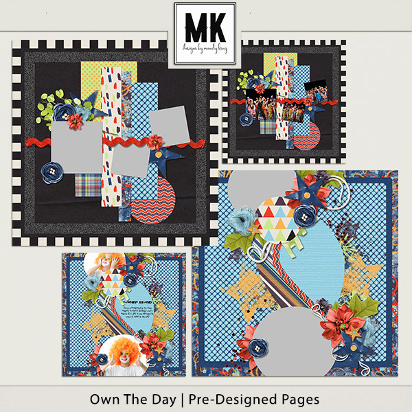 Own The Day - Pre-designed Pages Digital Art - Digital Scrapbooking Kits