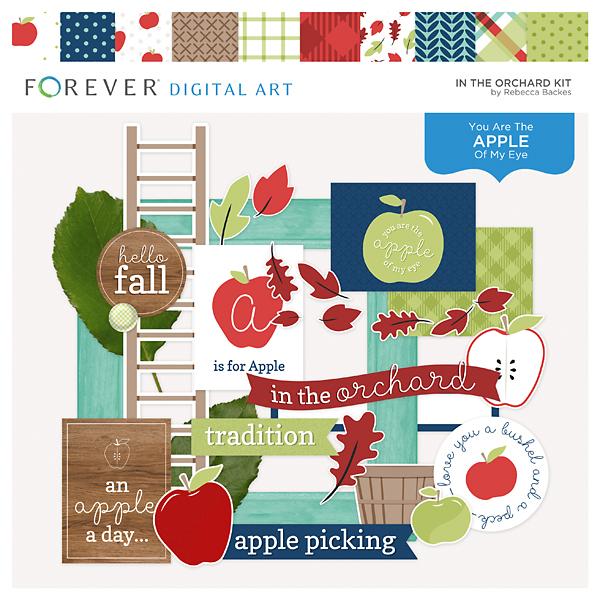 In The Orchard Kit Digital Art - Digital Scrapbooking Kits