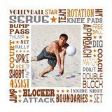 Volleyball Star Subway Art