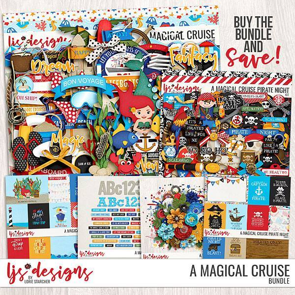 A Magical Cruise Bundle Digital Art - Digital Scrapbooking Kits