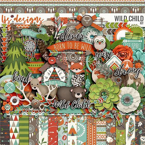 Wild Child 2.0 Digital Art - Digital Scrapbooking Kits