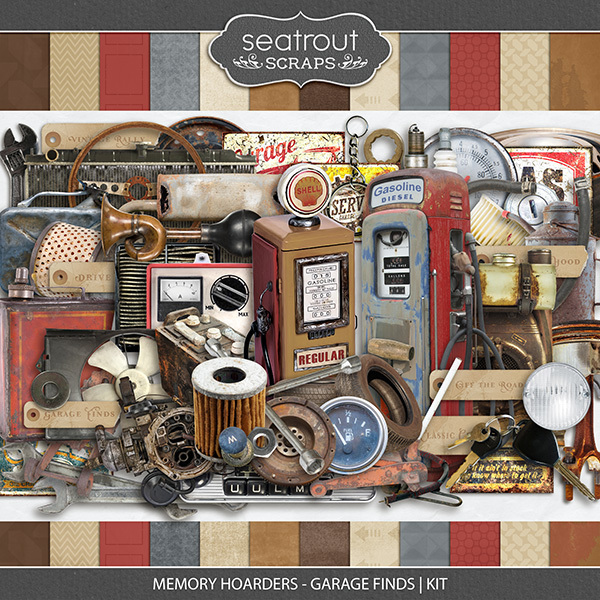 Memory Hoarders - Garage Finds Kit Digital Art - Digital Scrapbooking Kits