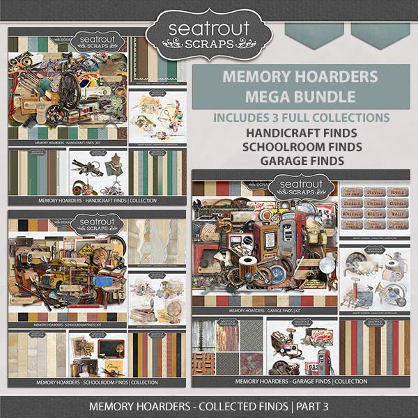 Memory Hoarders Collected Finds Part 3 Digital Art - Digital Scrapbooking Kits