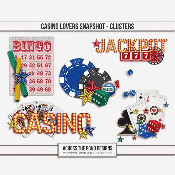 Casino Lovers Snapshot - Clusters Digital Art - Digital Scrapbooking Kits