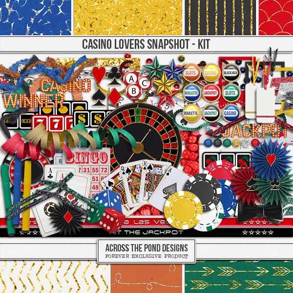 Casino Lovers Snapshot - Page Kit Digital Art - Digital Scrapbooking Kits