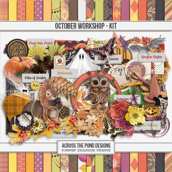 October Workshop - Page Kit Digital Art - Digital Scrapbooking Kits