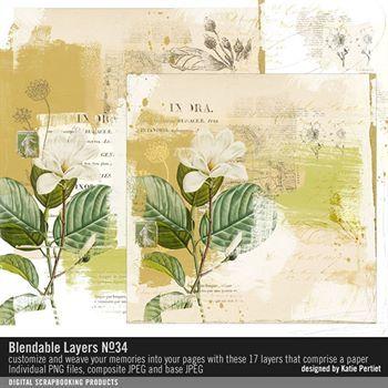 Blendable Layers No. 34 Digital Art - Digital Scrapbooking Kits