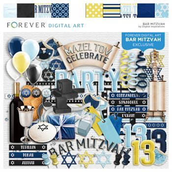 Bar Mitzvah Scrapbook Kit