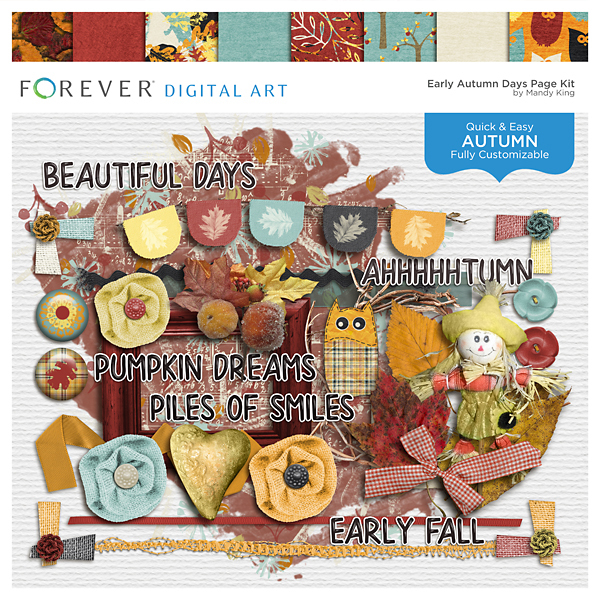 Early Autumn Days Page Kit