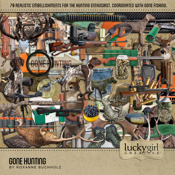 Gone Hunting Digital Art - Digital Scrapbooking Kits