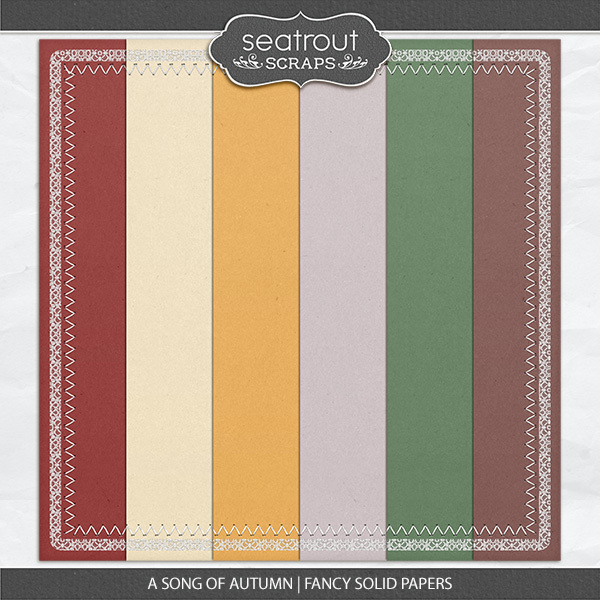 A Song Of Autumn - Fancy Solid Papers Digital Art - Digital Scrapbooking Kits