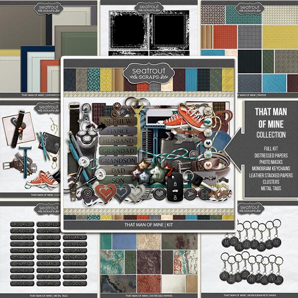 That Man Of Mine Collection Digital Art - Digital Scrapbooking Kits