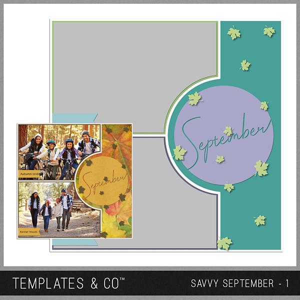 Savvy September 1 Digital Art - Digital Scrapbooking Kits