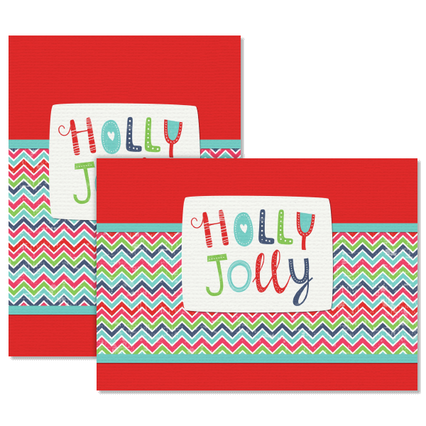 Chevron Christmas Card