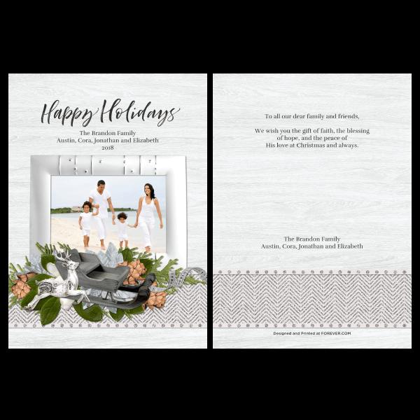 Silver Happy Holidays
