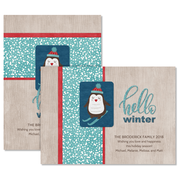 Hello Wintertime Card