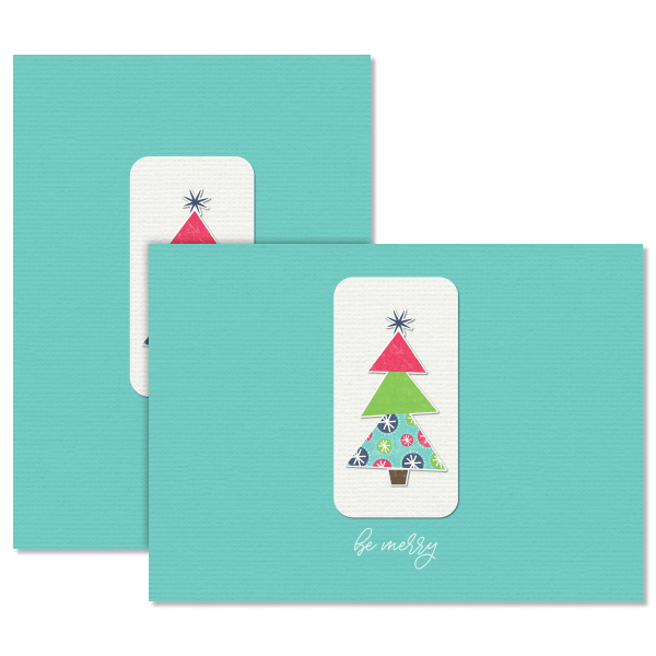 Be Merry Christmas Tree Card