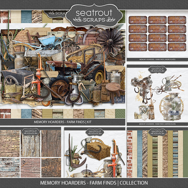Memory Hoarders - Farm Finds Collection Digital Art - Digital Scrapbooking Kits