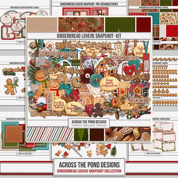 Gingerbread Lovers Snapshot - Mega Collection Digital Art - Digital Scrapbooking Kits