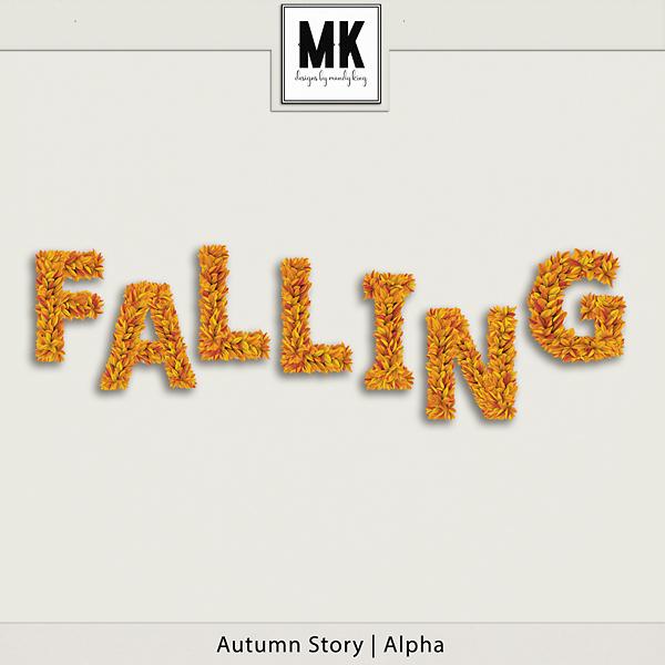 Autumn Story - Alpha Digital Art - Digital Scrapbooking Kits