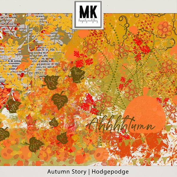Autumn Story - Hodgepodge Digital Art - Digital Scrapbooking Kits