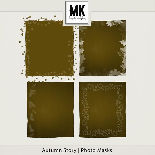 Autumn Story - Photo Masks Digital Art - Digital Scrapbooking Kits