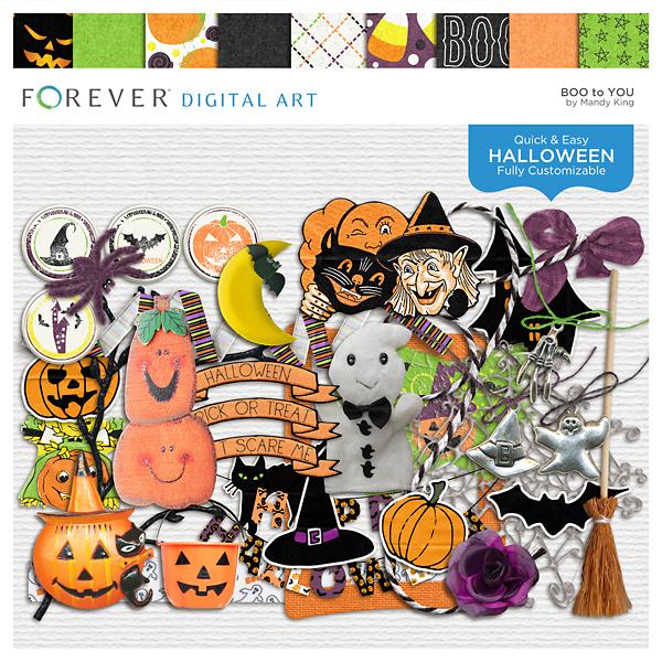 Boo To You Digital Art - Digital Scrapbooking Kits