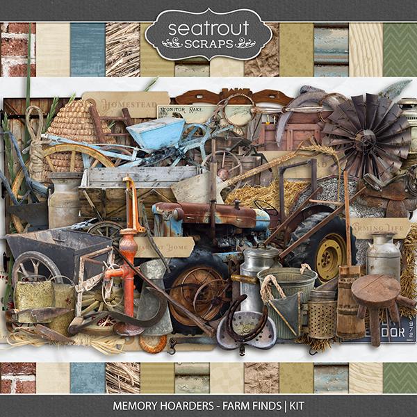 Memory Hoarders - Farm Finds Kit Digital Art - Digital Scrapbooking Kits
