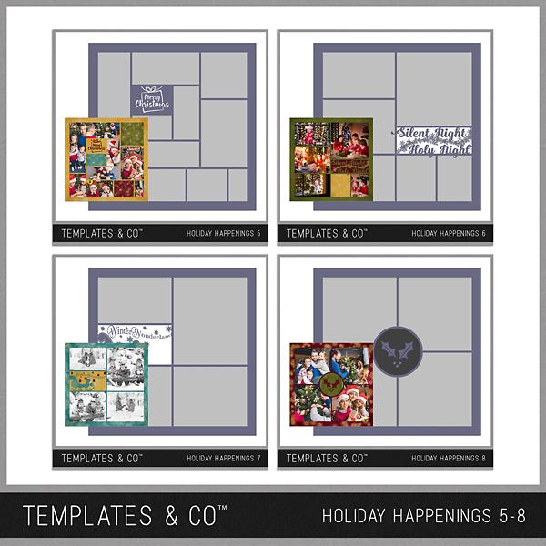 Holiday Happenings 5-8 Digital Art - Digital Scrapbooking Kits