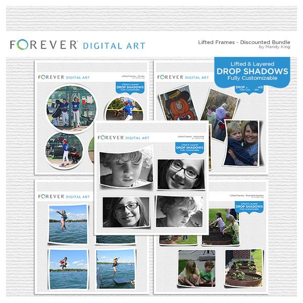 Lifted Frames - Discounted Bundle Digital Art - Digital Scrapbooking Kits
