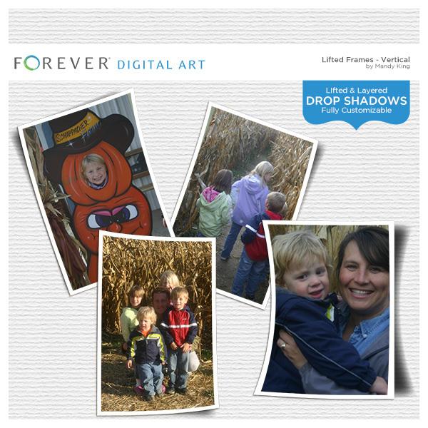 Lifted Frames - Verticals Digital Art - Digital Scrapbooking Kits