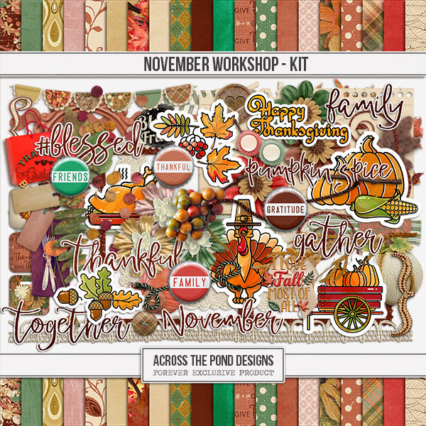November Workshop - Page Kit Digital Art - Digital Scrapbooking Kits