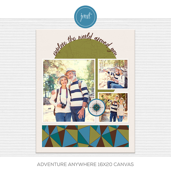 Adventure Anywhere 16x20 Canvas Digital Art - Digital Scrapbooking Kits