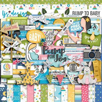 Bump To Baby Digital Art - Digital Scrapbooking Kits