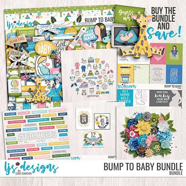 Bump To Baby Bundle Digital Art - Digital Scrapbooking Kits