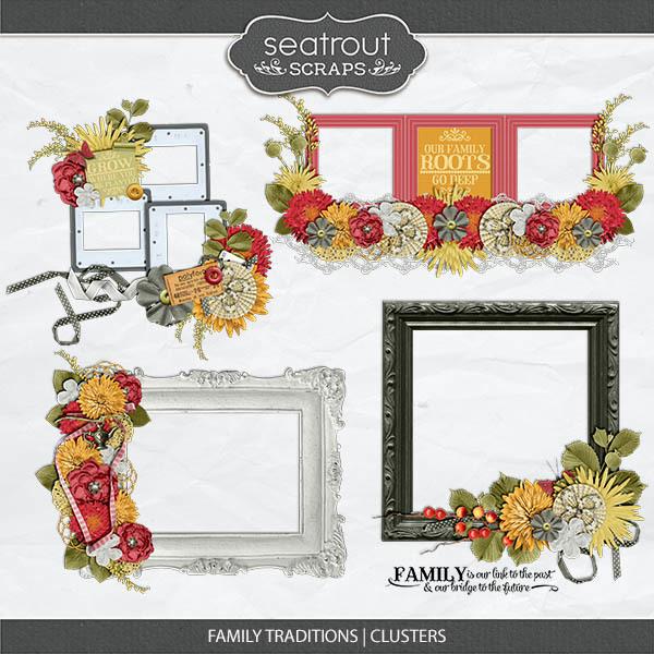 Family Traditions - Clusters Digital Art - Digital Scrapbooking Kits