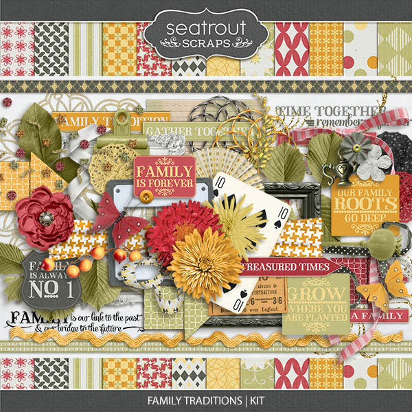 Family Traditions - Kit Digital Art - Digital Scrapbooking Kits