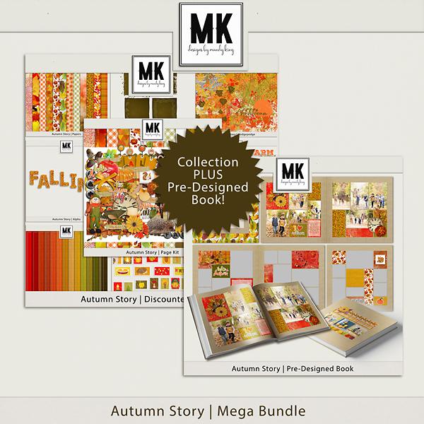 Autumn Story Mega Bundle Digital Art - Digital Scrapbooking Kits