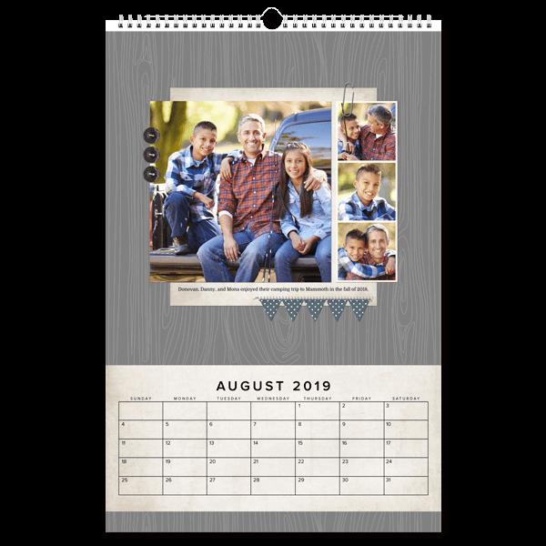 Modern Rustic Calendar