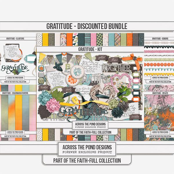 Faithfull Series - Gratitude Discounted Bundle Digital Art - Digital Scrapbooking Kits
