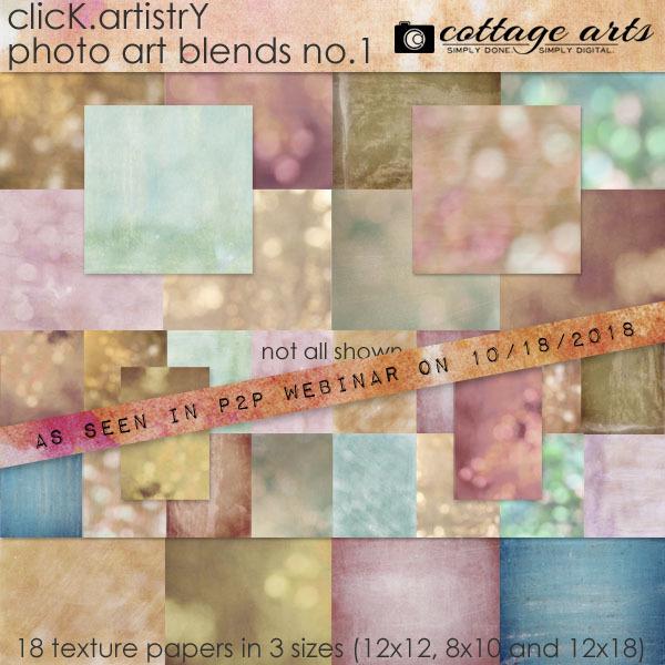 Click.artistry Photo Art Blends 1 Digital Art - Digital Scrapbooking Kits