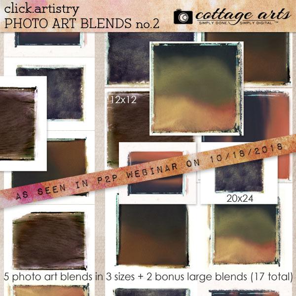 Click.artistry Photo Art Blends 2 Digital Art - Digital Scrapbooking Kits